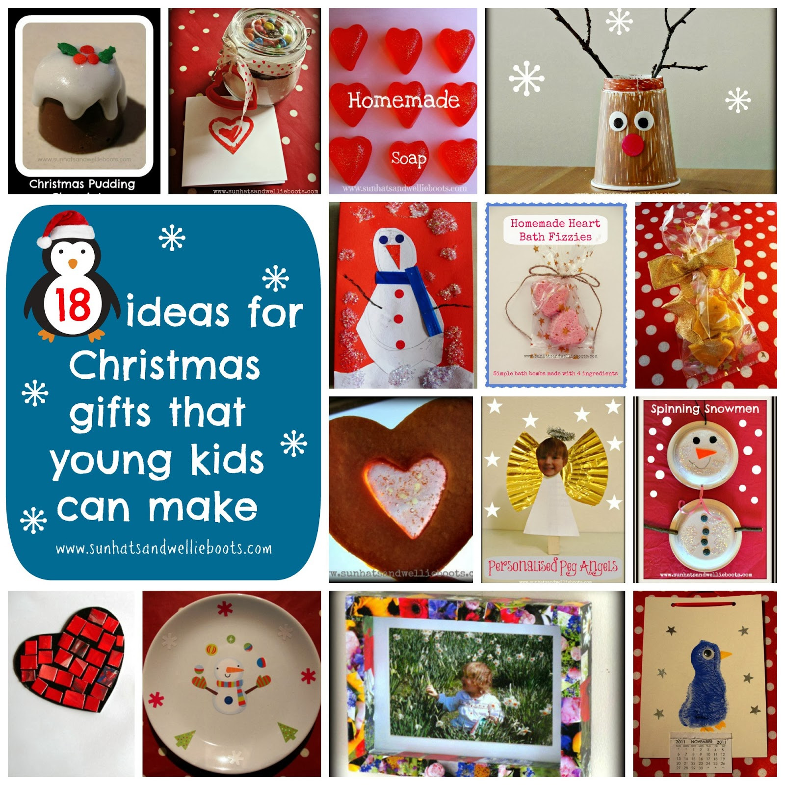 Toddler Made Christmas Gifts  Sun Hats & Wellie Boots 18 Homemade Christmas Gifts That