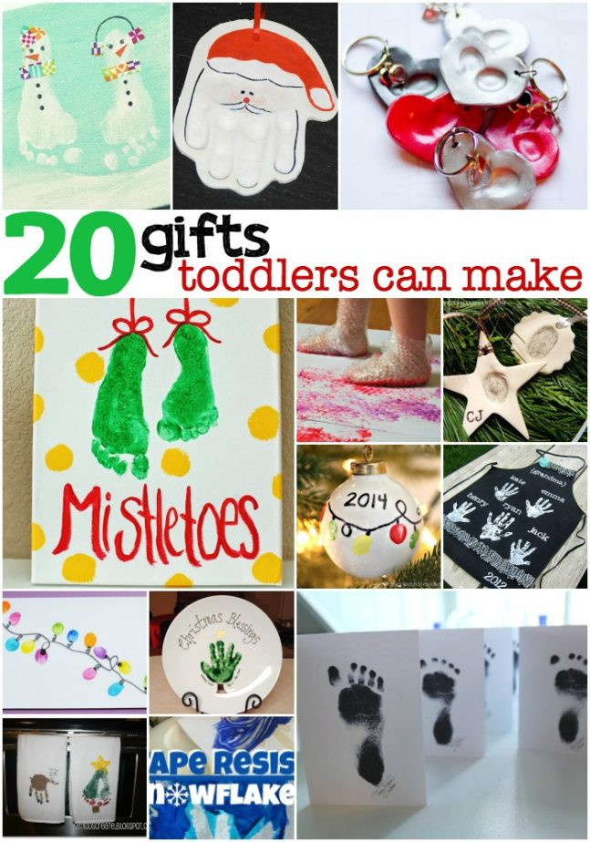 Toddler Made Christmas Gifts  20 Gifts Toddlers Can Make with a little help