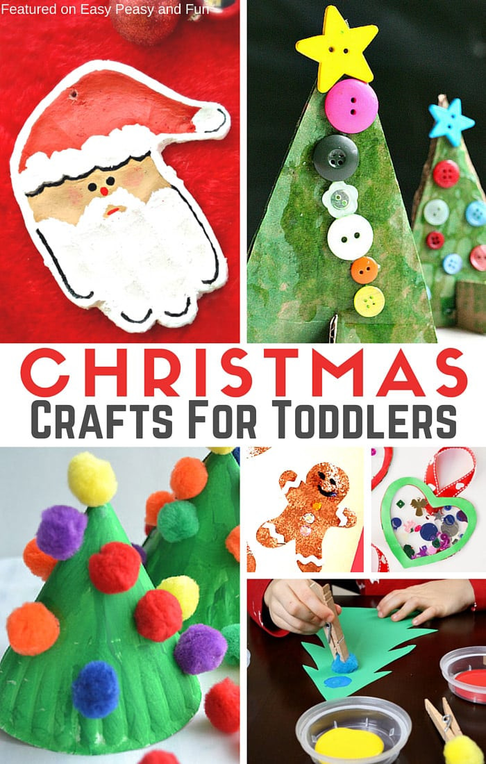 Toddlers Arts And Crafts Ideas  Simple Christmas Crafts for Toddlers Easy Peasy and Fun