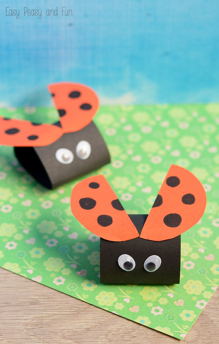 Toddlers Arts And Crafts Ideas  Simple Ladybug Paper Craft Easy Peasy and Fun