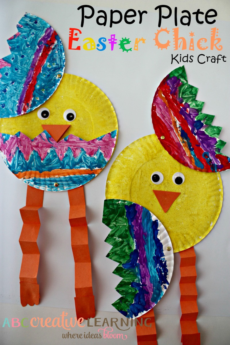 Toddlers Arts And Crafts Ideas  Cutest Paper Plate Easter Chick Kids Craft Simply Today Life