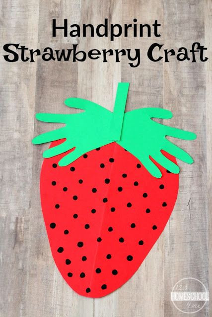 Toddlers Arts And Crafts Ideas  Handprint Strawberry Craft Arts & Crafts