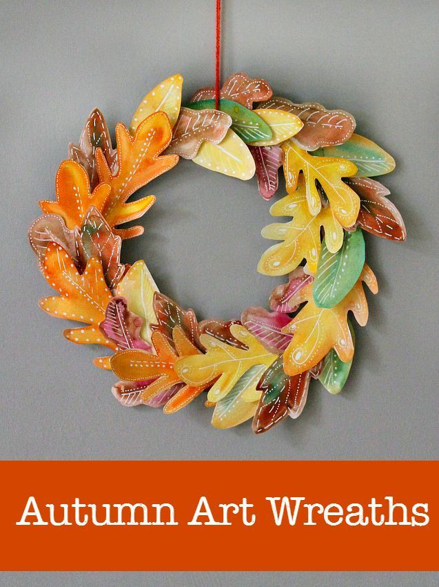 Toddlers Arts And Crafts Ideas  10 beautiful homemade fall wreath art projects