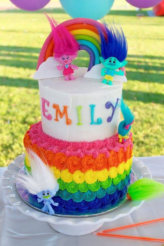 Trolls Birthday Cake Ideas  20 Terrific Trolls Party Ideas Pretty My Party Party Ideas