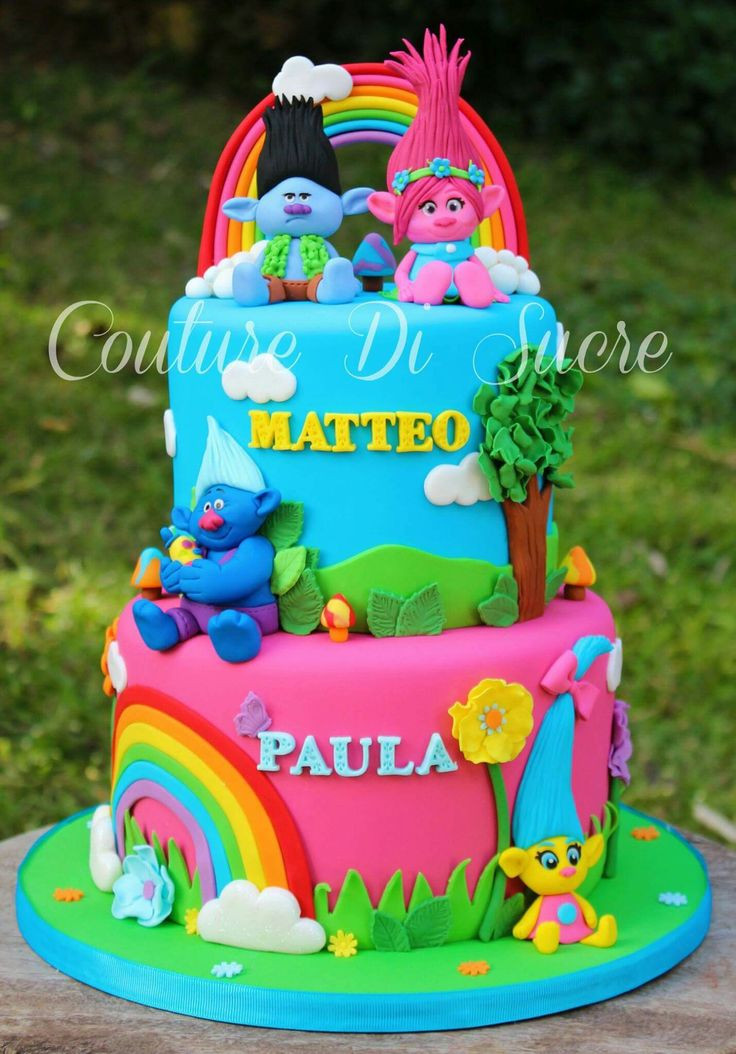 Trolls Birthday Cake Ideas  Best 25 Trolls cakes ideas on Pinterest