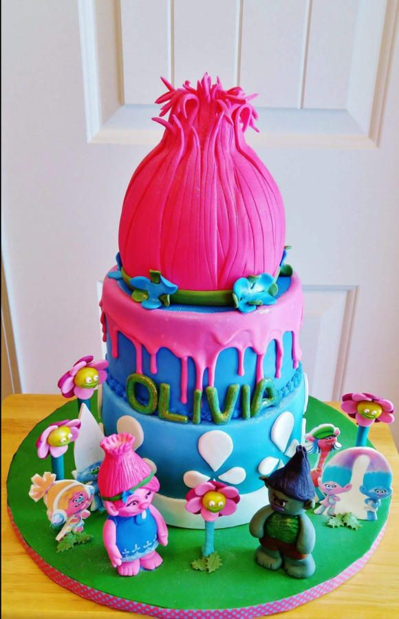 Trolls Birthday Cake Ideas  Poppy Troll by Enza Sweet E