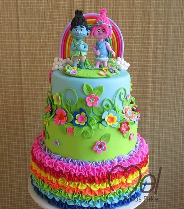 Trolls Birthday Cake Ideas  65 best images about Troll Cakes on Pinterest