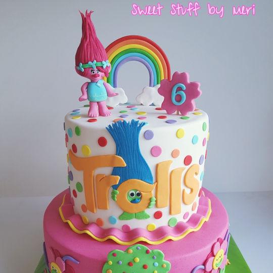 Trolls Birthday Cake Ideas  Trolls cake cake by Meri CakesDecor