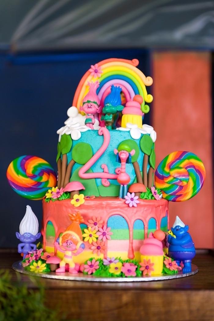 Trolls Birthday Cake Ideas  Kara s Party Ideas Trolls Birthday Party