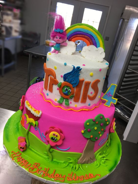 Trolls Birthday Cake Ideas  Southern Blue Celebrations TROLLS CAKES