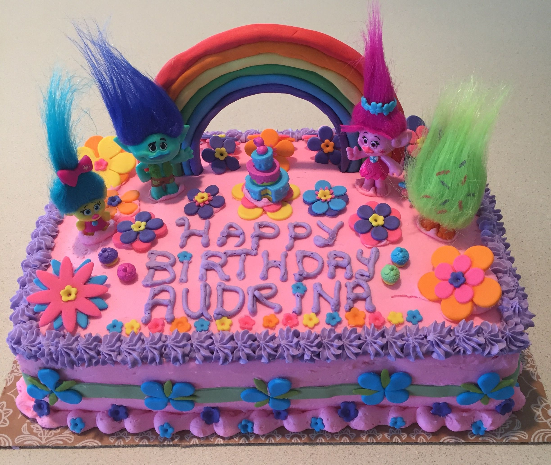 Trolls Birthday Cake Ideas  Southern Blue Celebrations TROLLS CAKE & COOKIE IDEAS