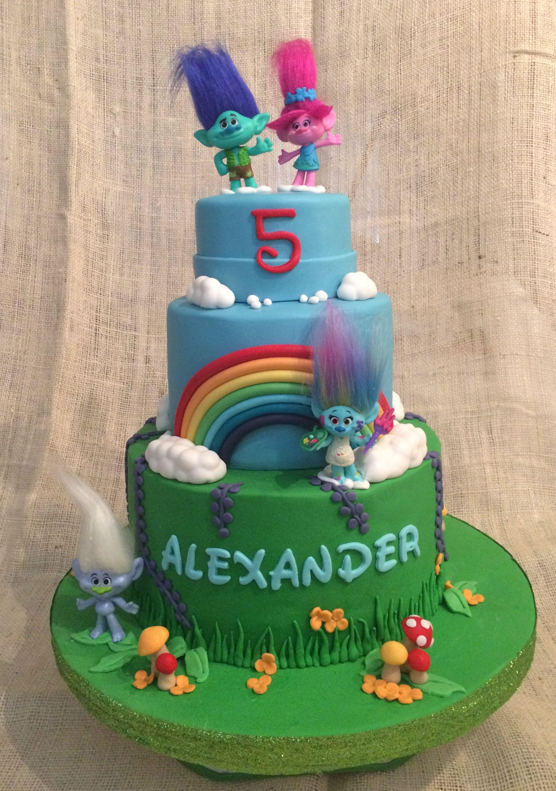 Trolls Birthday Cake Ideas  Trolls cake Birthday cakes