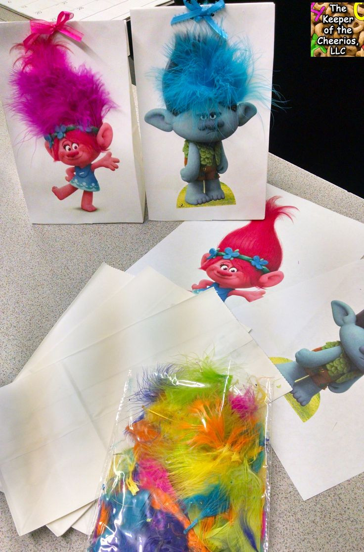 Trolls Party Favor Ideas  19 best images about Trolls Birthday Party on Pinterest