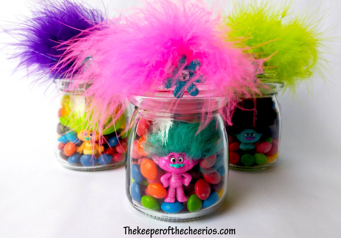 Trolls Party Favor Ideas  Trolls Party Favor Treat Jars The Keeper of the Cheerios