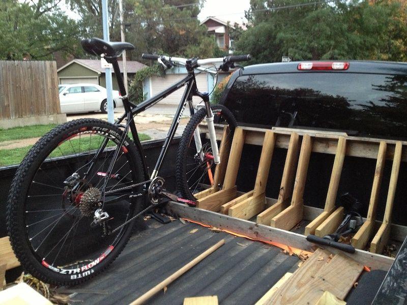 Truck Bed Bike Rack DIY  brand new build … DIY