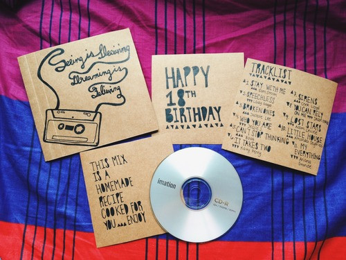 Tumblr Gift Ideas For Boyfriend  diy mixtape