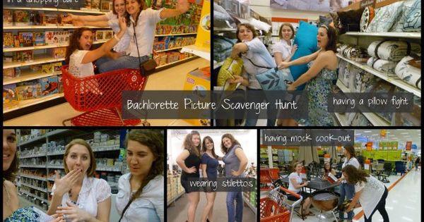 Under 21 Bachelorette Party Ideas  Bachelorette Party Scavenger Hunt [[clean & alcohol