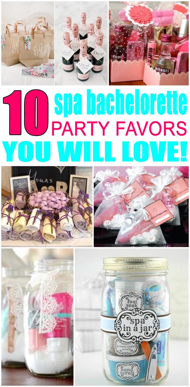 Under 21 Bachelorette Party Ideas  Spa Bachelorette Party Favors
