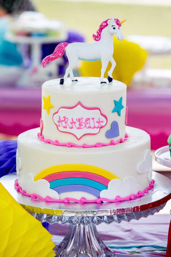 Unicorn Ideas For Party  Kara s Party Ideas Rainbow Unicorn Birthday Party