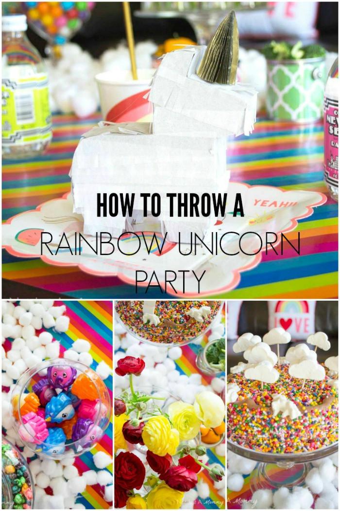 Unicorn Ideas For Party  Rainbow Unicorn Party Ideas Moms & Munchkins