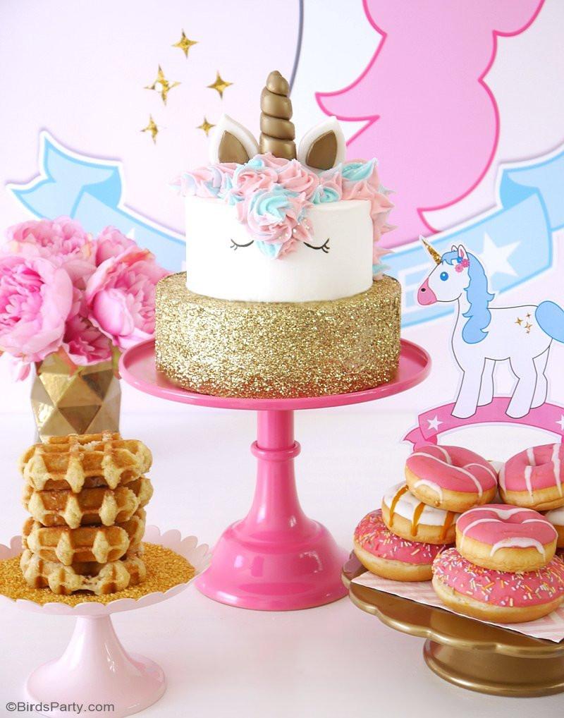 Unicorn Party Decorating Ideas  My Daughter s Unicorn Birthday Slumber Party Party Ideas