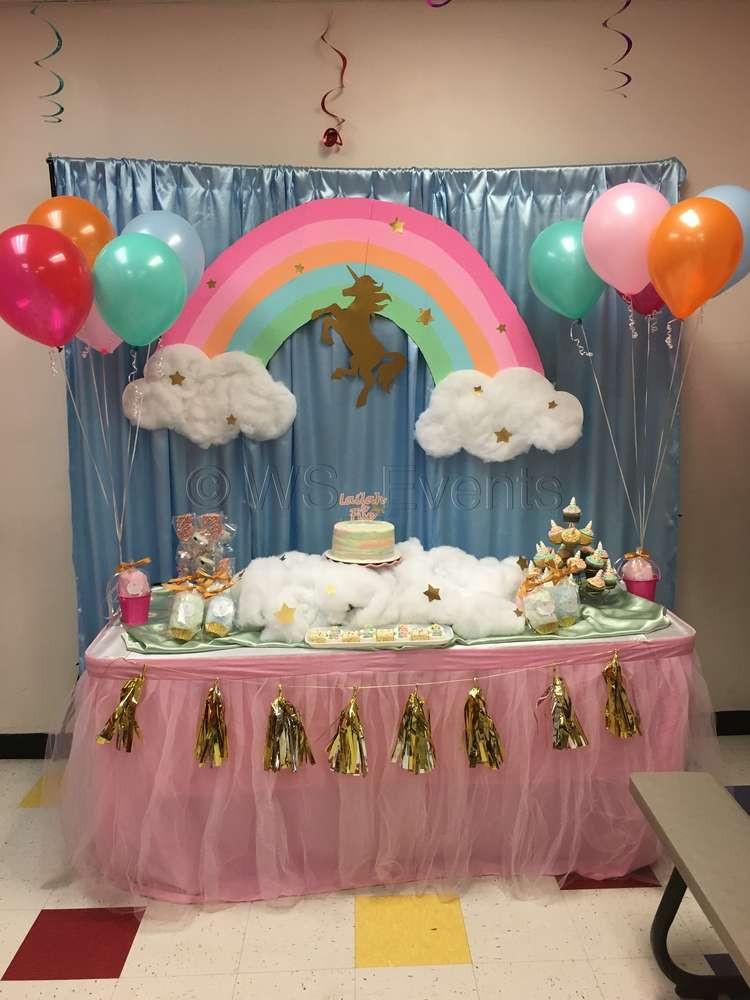 Unicorn Party Decorating Ideas  Pastel Unicorn Birthday Party Ideas 1 of 4