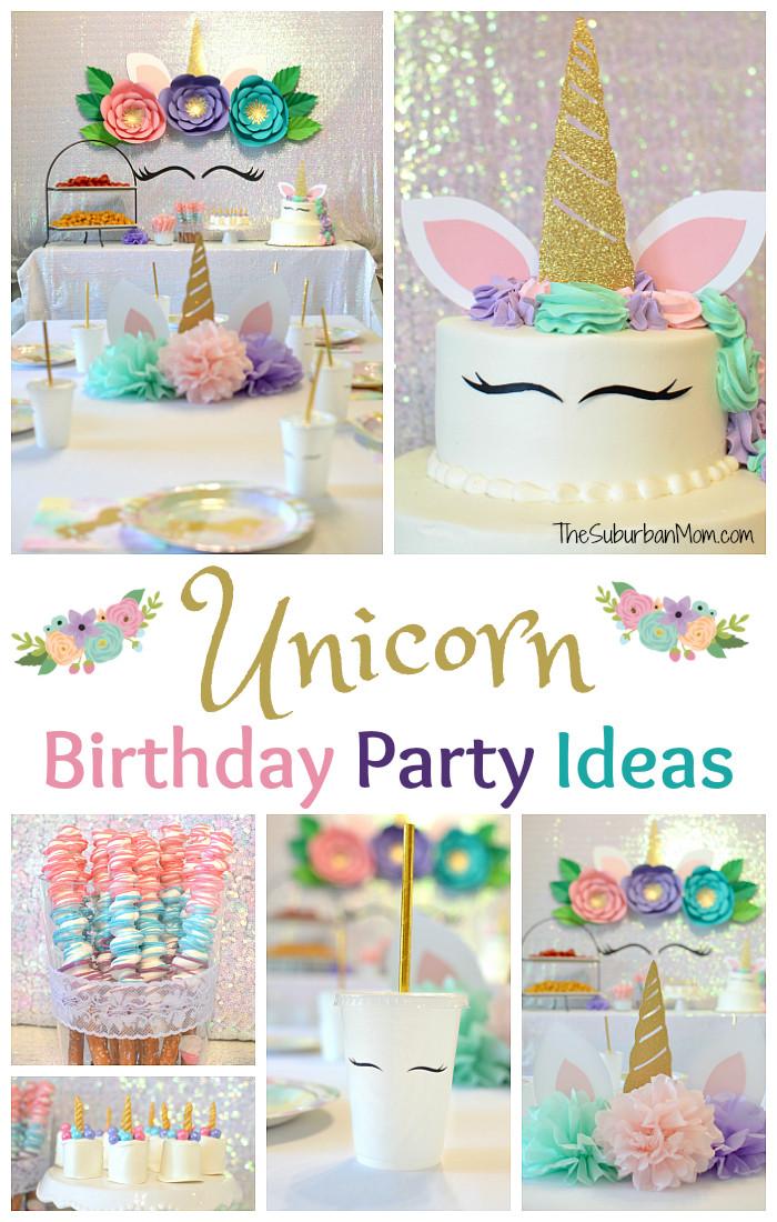 Unicorn Party Decorating Ideas  Unicorn Birthday Party Ideas Food Decorations