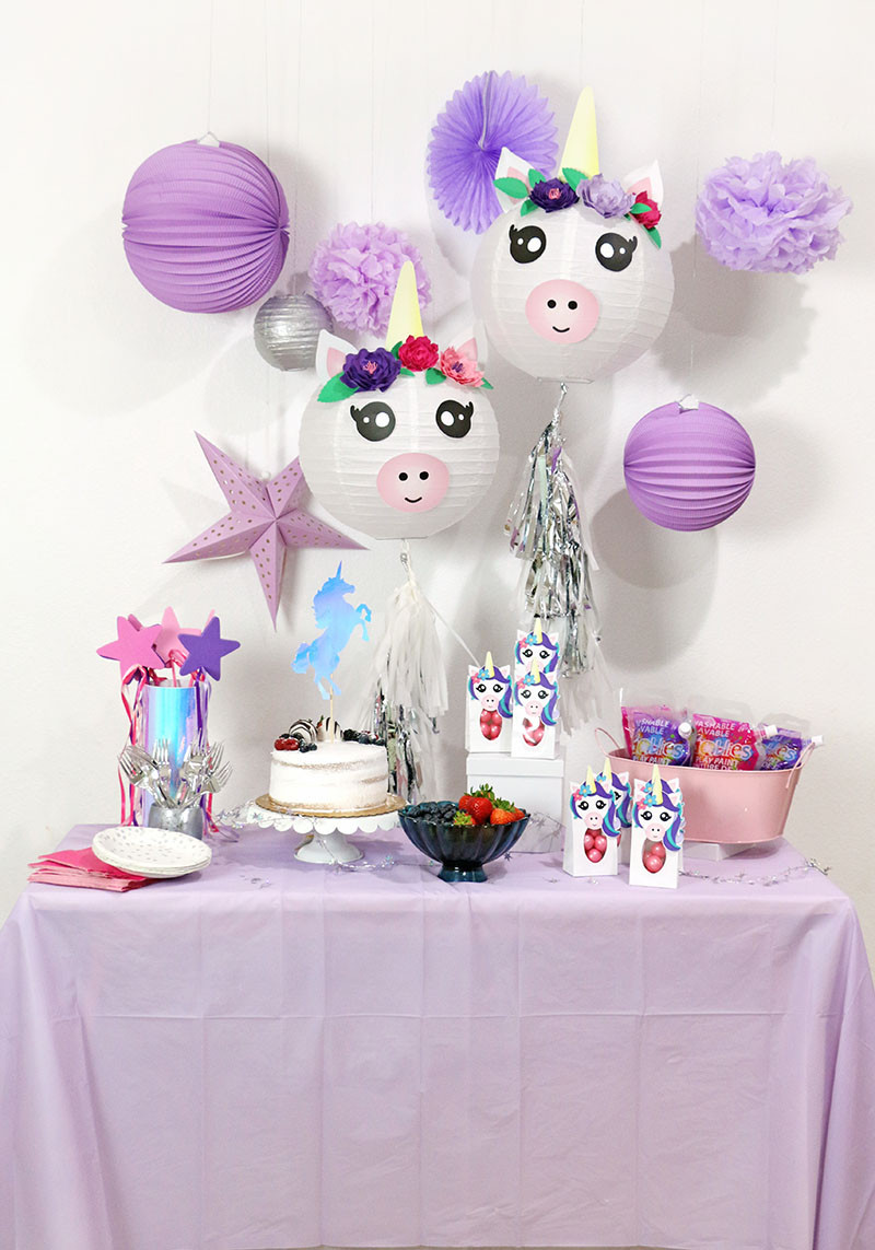 Unicorn Party Decorating Ideas  A Cute and Colorful DIY Unicorn Party with Goblies Paint