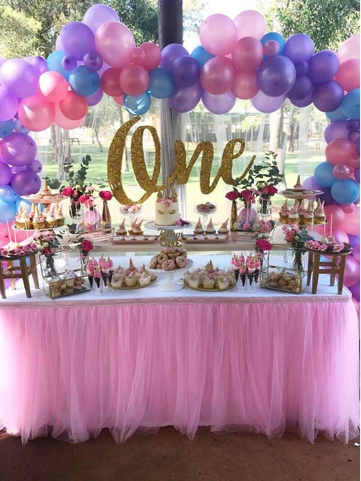 Unicorn Party Decorating Ideas  Magical Unicorn First Birthday Party Birthday Party