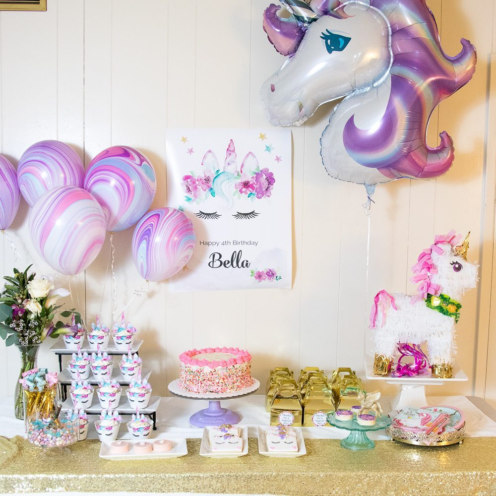 Unicorn Party Decorating Ideas  Sparkling Unicorn Party Supplies and Inspiration TINSELBOX