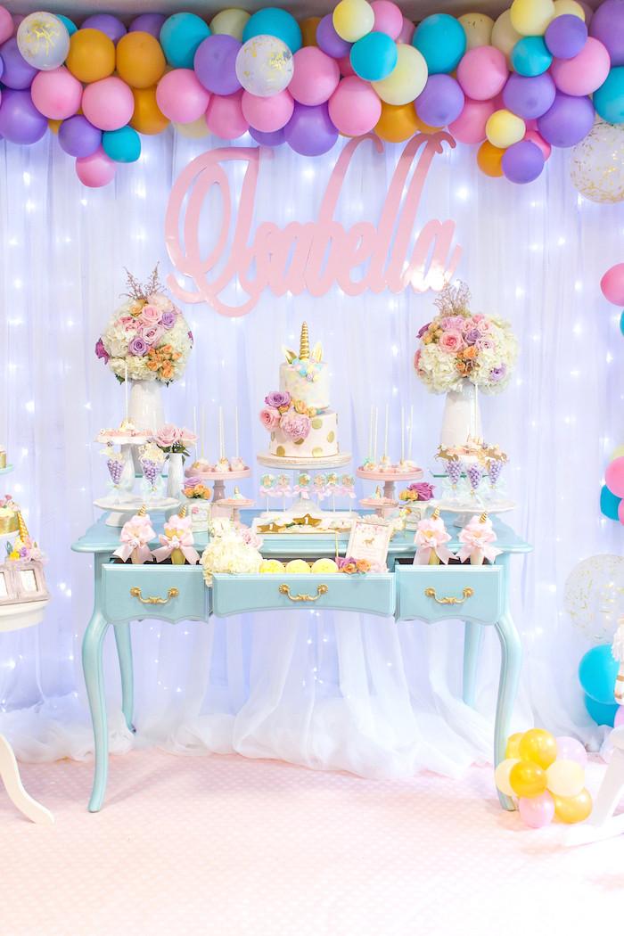 Unicorn Party Decorating Ideas  Kara s Party Ideas Mystical and Magical Unicorn Birthday