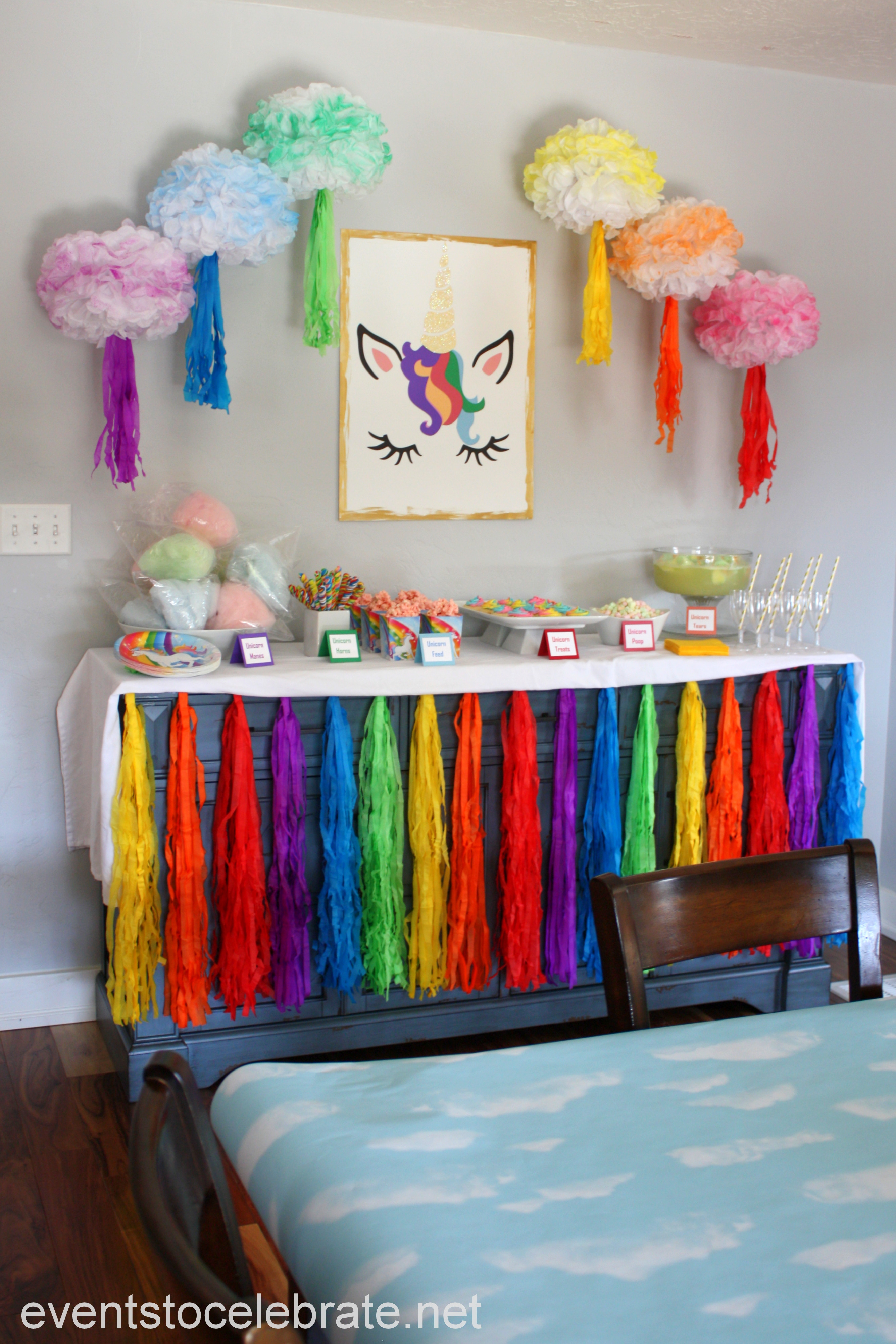 Unicorn Party Decorating Ideas  Unicorn Party Decorations and Food