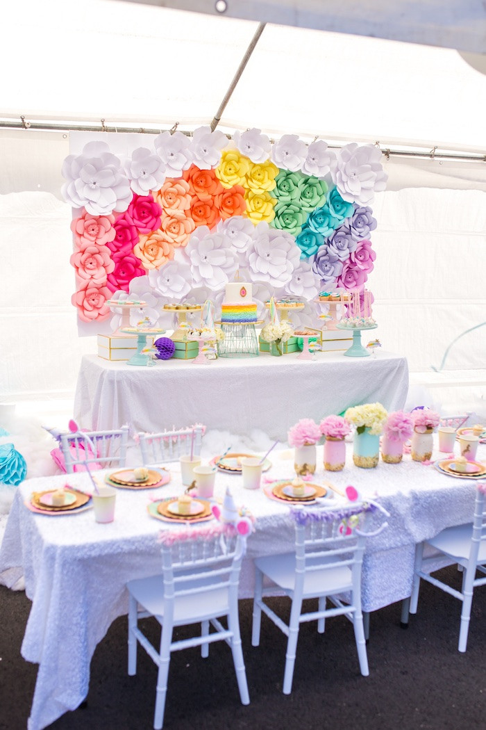 Unicorn Party Decorating Ideas  Kara s Party Ideas Magical Unicorn Birthday Party
