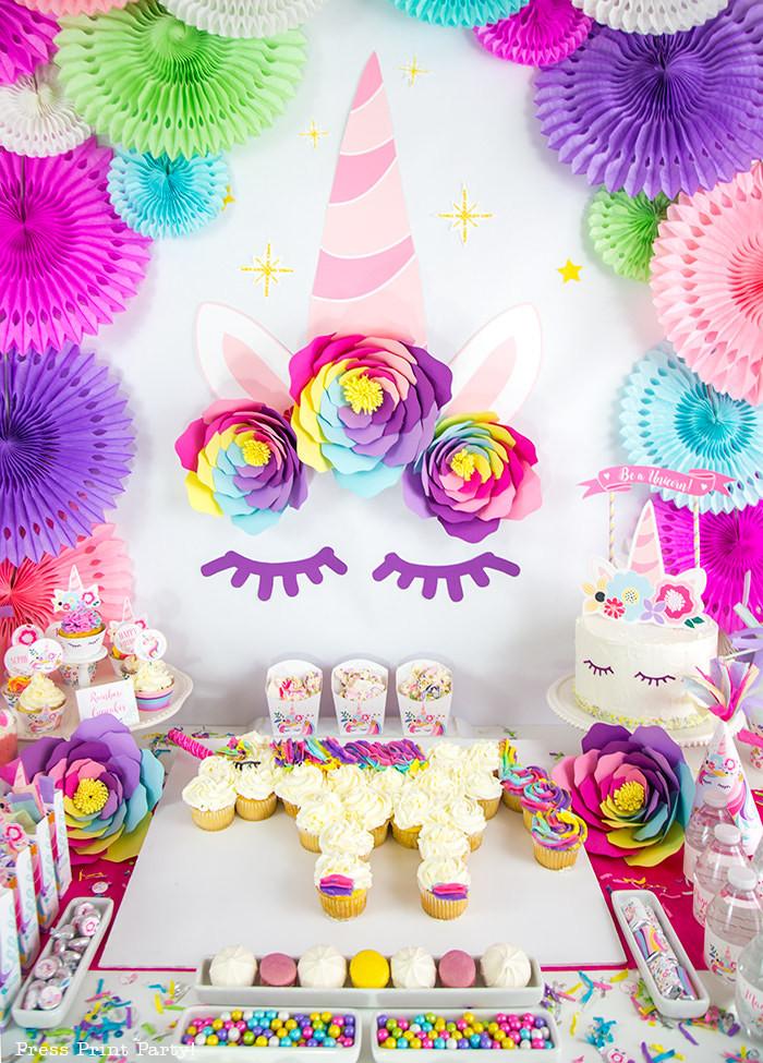 Unicorn Party Decorating Ideas  Truly Magical Unicorn Birthday Party Decorations DIY