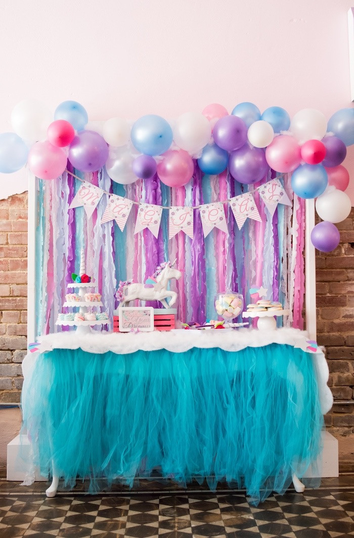 Unicorn Party Table Ideas  Kara s Party Ideas Magical Unicorn Party