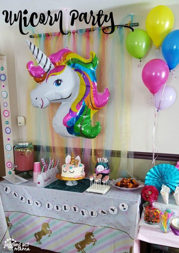 Unicorn Party Table Ideas  Unicorn Popcorn Juggling Act Mama