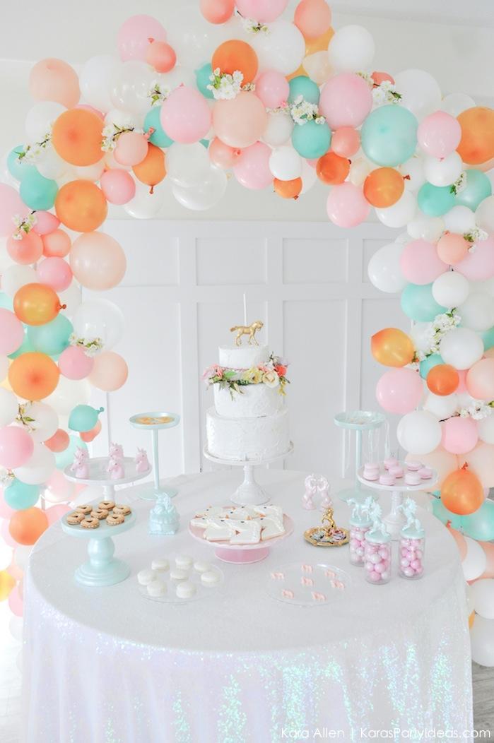 Unicorn Party Table Ideas  Kara s Party Ideas Dreamy Unicorn Birthday Party