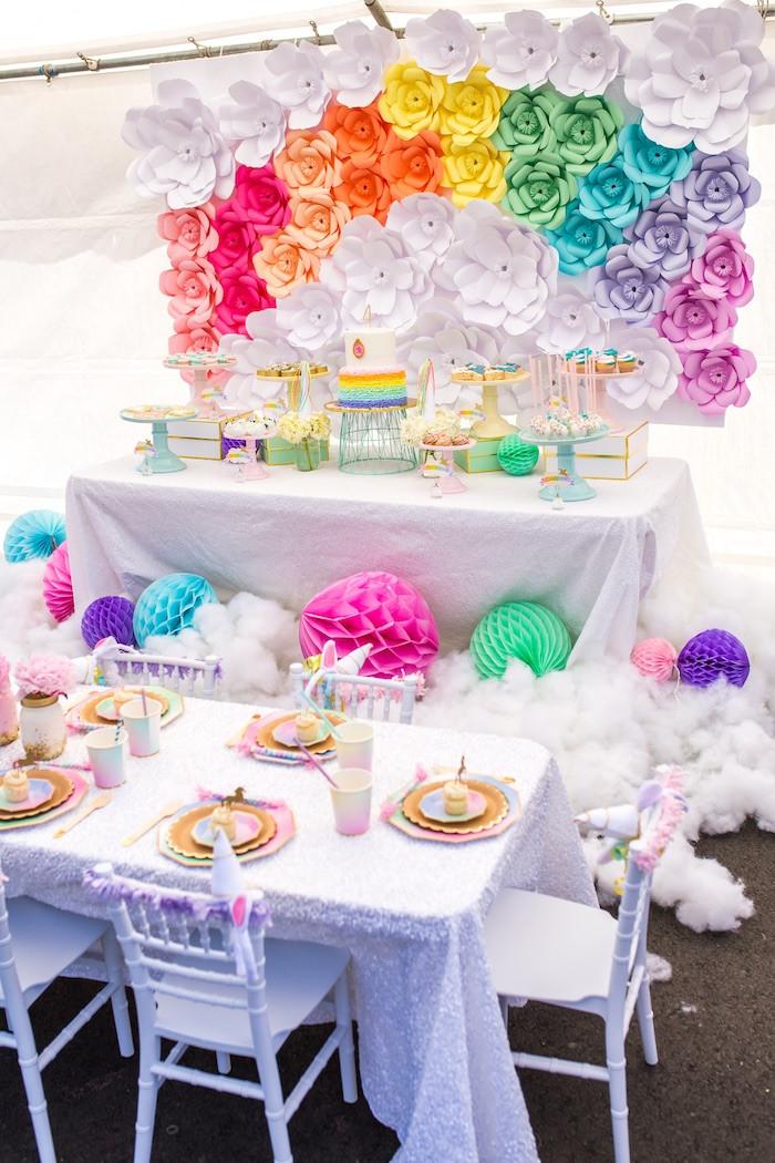 Unicorn Party Table Ideas  Kara s Party Ideas Magical Unicorn Birthday Party