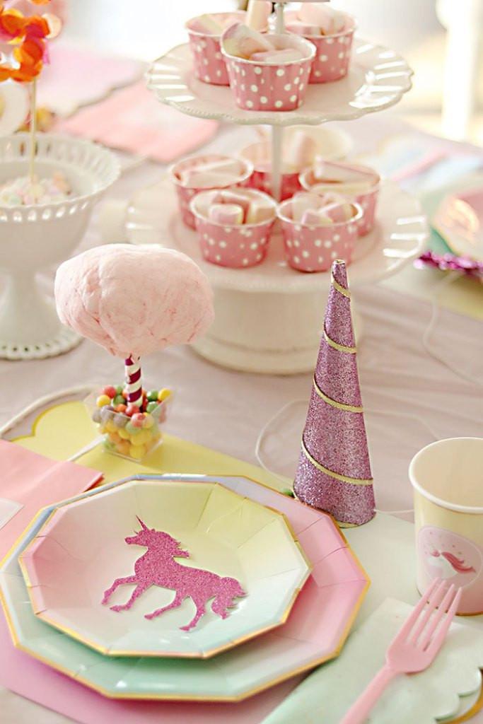 Unicorn Party Table Ideas  Unicorn Birthday Party Darling Darleen