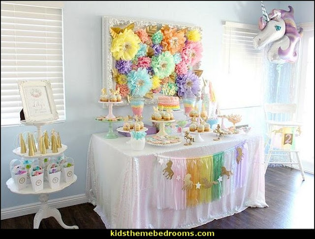 Unicorn Party Table Ideas  Decorating theme bedrooms Maries Manor unicorn party