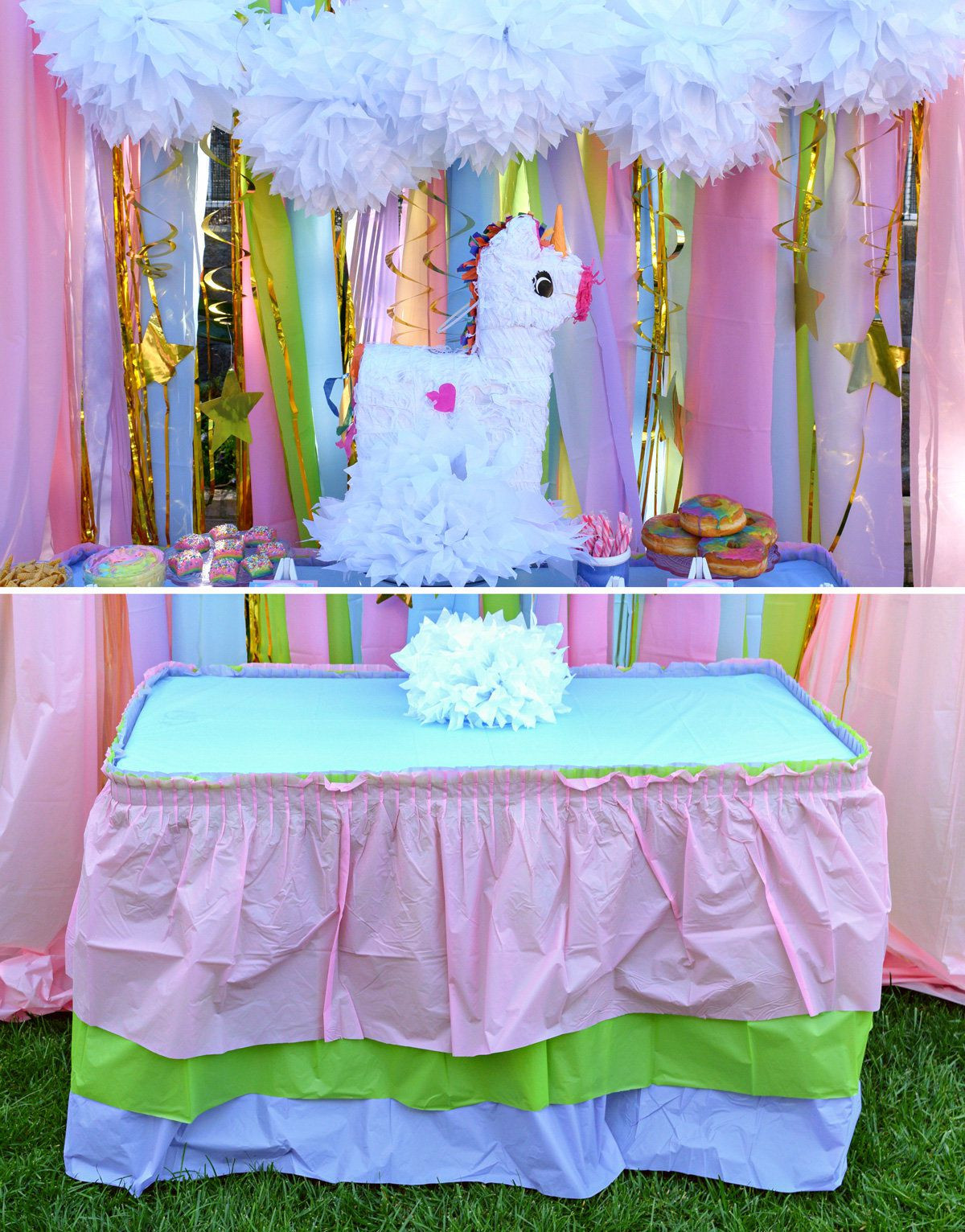 Unicorn Party Table Ideas  Unicorn Party Ideas