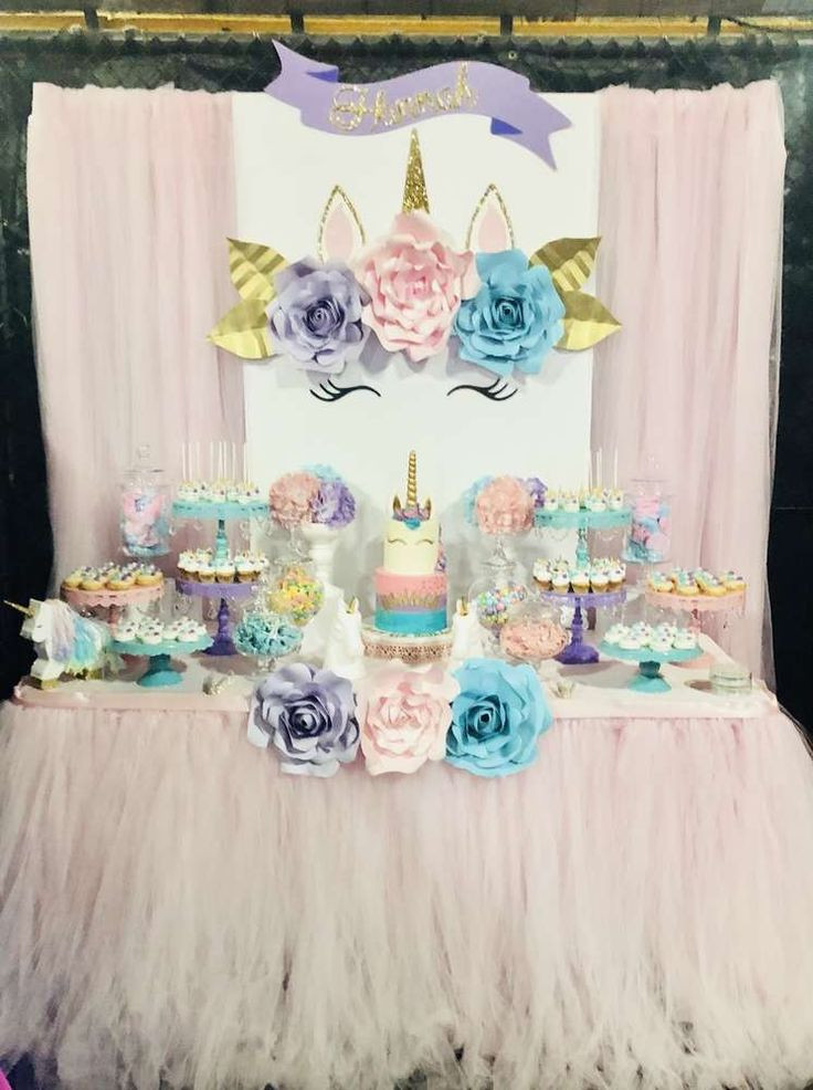 Unicorn Party Table Ideas  Best 25 Unicorn birthday parties ideas on Pinterest