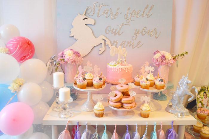 Unicorn Party Table Ideas  Kara s Party Ideas Elegant Pastel Unicorn Soiree