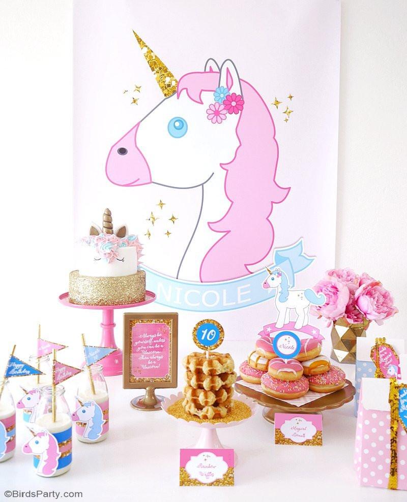 Unicorn Party Table Ideas  Unicorn Birthday Slumber Party Project Nursery