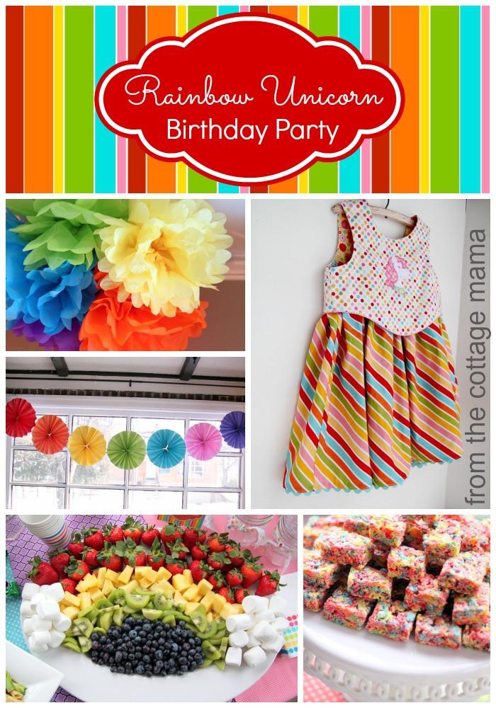 Unicorn Rainbow Party Ideas  Rainbow Unicorn Birthday Party with Free Printables The