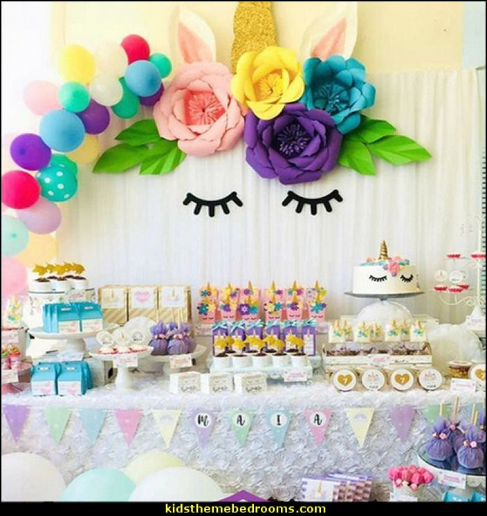 Unicorn Rainbow Party Ideas  Decorating theme bedrooms Maries Manor unicorn party