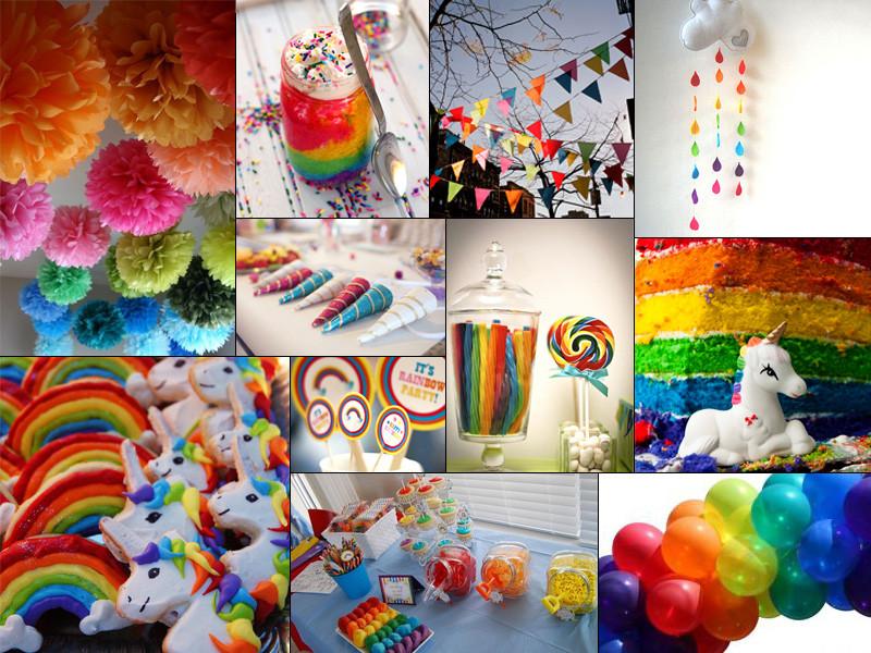 Unicorn Rainbow Party Ideas  Inspiration Enchanted Unicorn & Rainbow Birthday Party