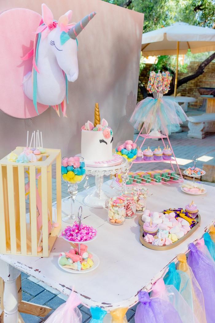 Unicorn Rainbow Party Ideas  Kara s Party Ideas Rainbows and Unicorns Birthday Party