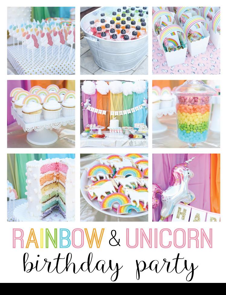 Unicorn Rainbow Party Ideas  unicorn and rainbow birthday party