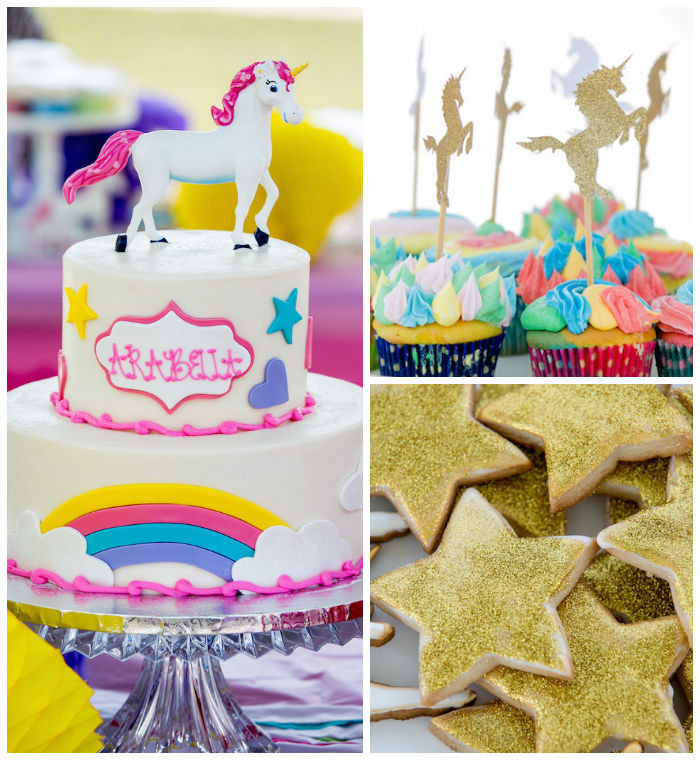 Unicorn Rainbow Party Ideas  Kara s Party Ideas Rainbow Unicorn Birthday Party